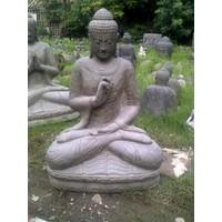 Boeddhabeeld op lotus Chakra in 6 maten