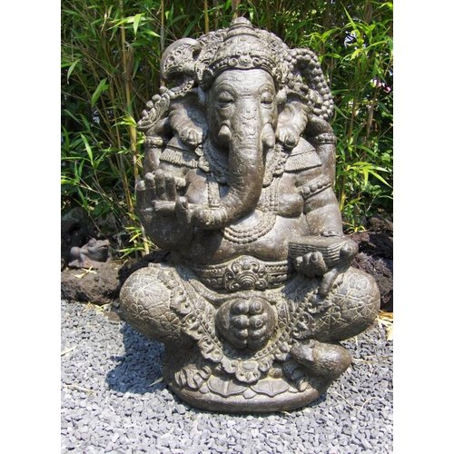 Eliassen Ganesha in lotus zit in 2 maten