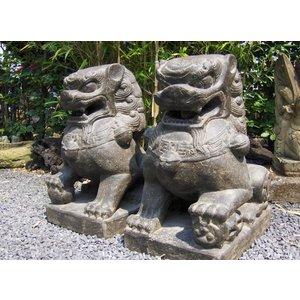 Eliassen Stenen beelden Leeuwen set chinese tempelwachters in 3 maten