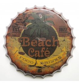 Eliassen Beer cap wall decoration Beach Cafe in 2 sizes