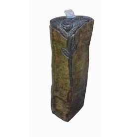 Eliassen Rose Pilar water column in 3 sizes basalt stone