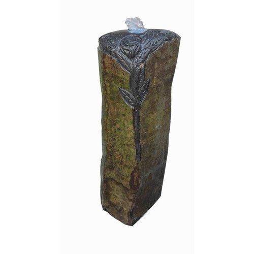 Eliassen Rose Pilar waterzuil in 3 maten basaltsteen