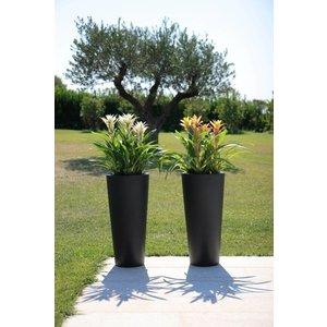 Anthracite tall vase Tondo Alto
