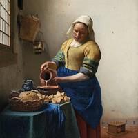 Dibond painting Milkmaid