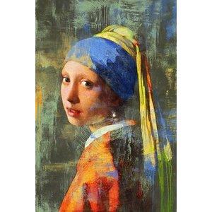 MondiArt Aluminiummalerei Mädchen mit der Perle Modern