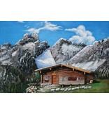 Eliassen 3D-Malerei Eisen 80x120cm Berghütte
