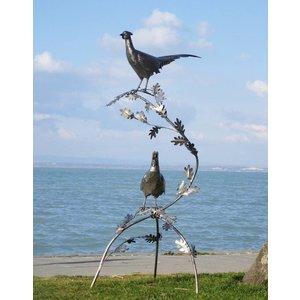 Eliassen Pheasants on branch exclusive