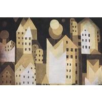 Dibond-Malerei Moderne Stadt