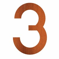 House numbers and Letters Corten steel Adezz