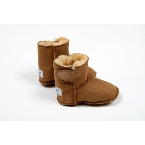 Baby booties Brown