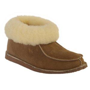 Wollen dames pantoffels Camel