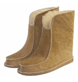 Wolle Hausschuhe hohe Modell Camel