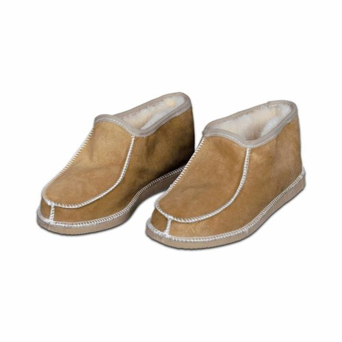 Wollen heren pantoffels Camel
