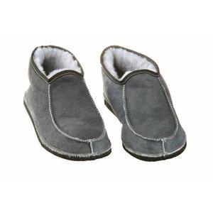 Wollen heren pantoffels Blauw/grijs