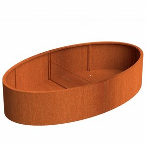 Adezz Producten Flower box Ellipse Adezz corten steel