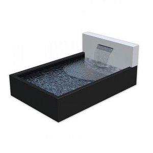 Adezz Producten Teichbox Alu Adezz mit Wand und Wasserfall + LEDs