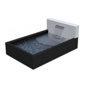 Adezz Producten Vijverbak aluminium Adezz  met muur en waterval +leds