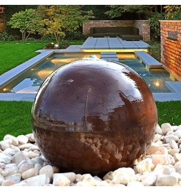 Eliassen Water globe Corten steel in 4 sizes