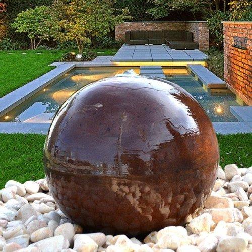 Eliassen Water globe Corten steel in 4 sizes