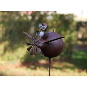 Eliassen Windmill garden lighter with owl