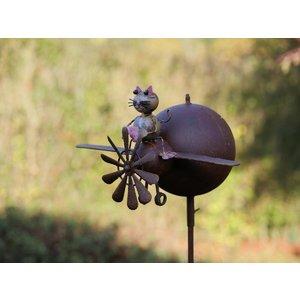 Eliassen Windmill garden plug with cat