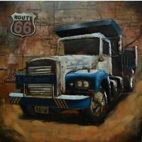 3D schilderij USA truck 100x100cm