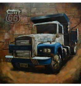 Eliassen 3D Gemälde USA LKW 100x100cm