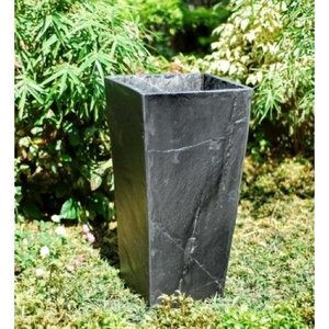 Tall planter black slate