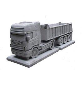 Eliassen Bloembak beton Scania met trailer