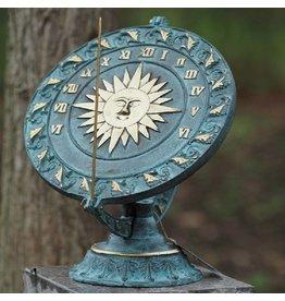 Eliassen Plate sundial bronze sun