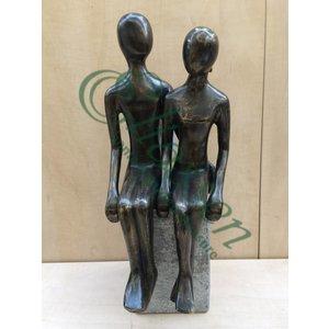 Eliassen Bronze sculpture of a seated couple XL