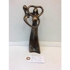 Eliassen Bronzen beeldje Koppel hart klein