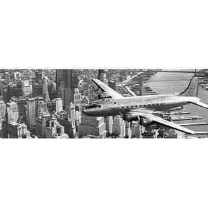 MondiArt Glasmalerei fliegt über Manhattan 50x150cm