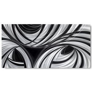 Malerei Aluminium Schwarz 100x240cm