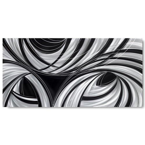 Schilderij aluminium  Black 100x240cm