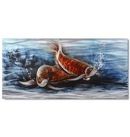 Painting aluminum Fish 60x120cm