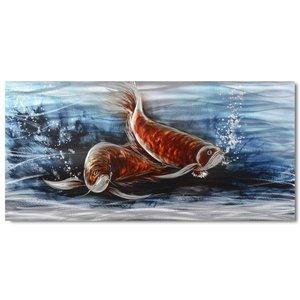 Malerei Aluminium Fisch 60x120cm