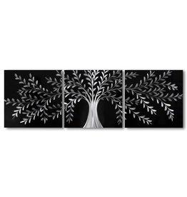 Painting aluminum triptych Versailles 60x180cm