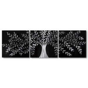 Schilderij aluminium  drieluik Versailles 60x180cm