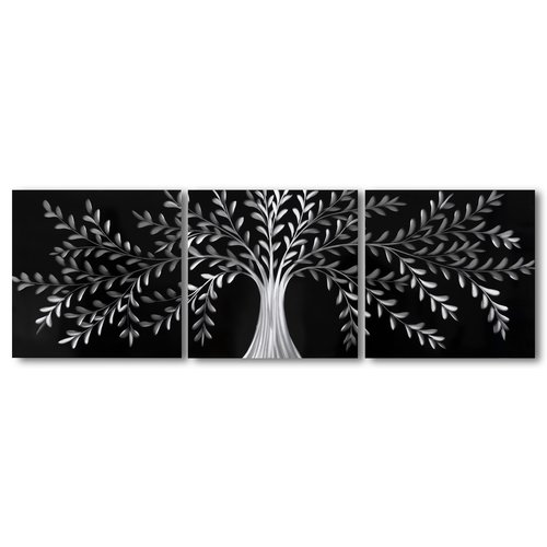 Bemalung von Aluminium-Triptychon Versailles 60x180cm