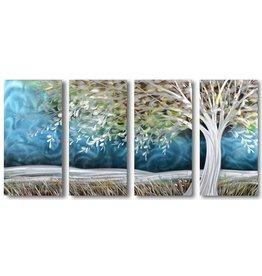 Painting aluminum four-panel Storm 80x160cm