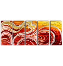 Bemalung Aluminium Fünf-Panel Abstract 80x200cm