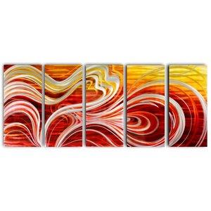 Malerei Aluminium Fünfkampf Abstrakt 80x200cm
