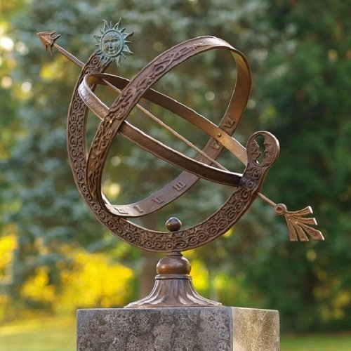 Eliassen Zonnewijzer brons/messing 48cm