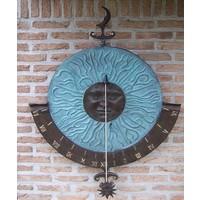 Wandsonnenuhr Bronze super-groß