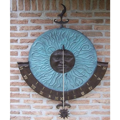 Eliassen Wall sundial bronze super-large
