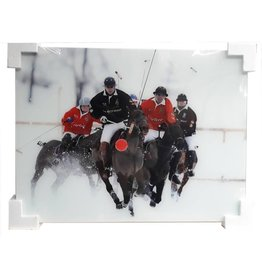 MondiArt Glasschilderij  Polospelers 60x80cm