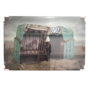 MondiArt Glasmalerei Abandoned Beach 80x120cm