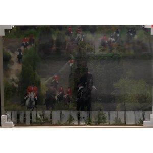 MondiArt Gemälde Glas Fuchsjagd 120x80cm