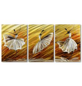 Painting aluminum triptych Ballerina 60x120cm